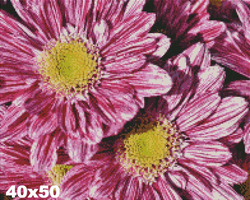 FREE Diamond Painting Kit: Pretty Pink Flowers - Shimmer Stitch
