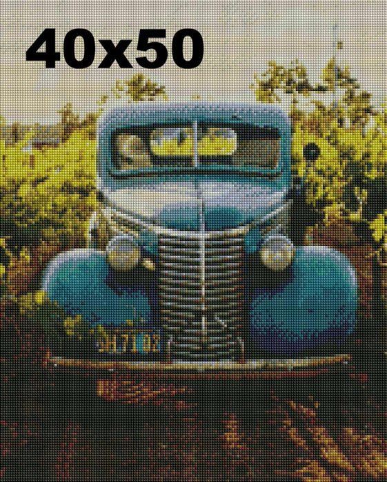 FREE Diamond Painting Kit: Vintage Truck - Shimmer Stitch