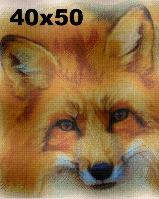 FREE Diamond Painting Kit: Friendly Fox - Shimmer Stitch