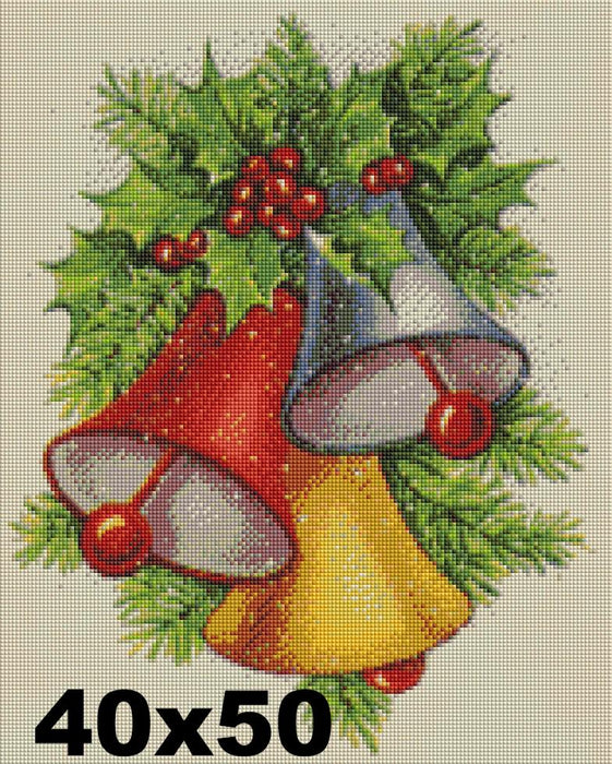 FREE Diamond Painting Kit: Christmas Bells - Shimmer Stitch