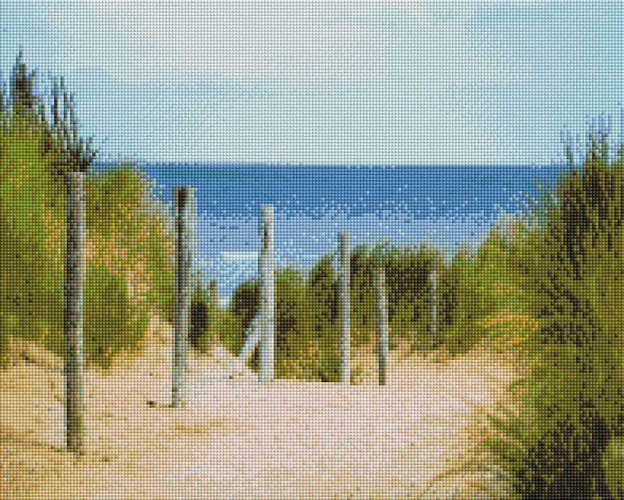 Beach Path - Shimmer Stitch