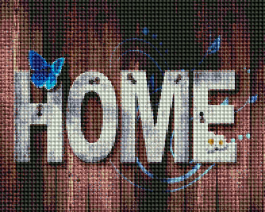 Brown Home Sign - Shimmer Stitch