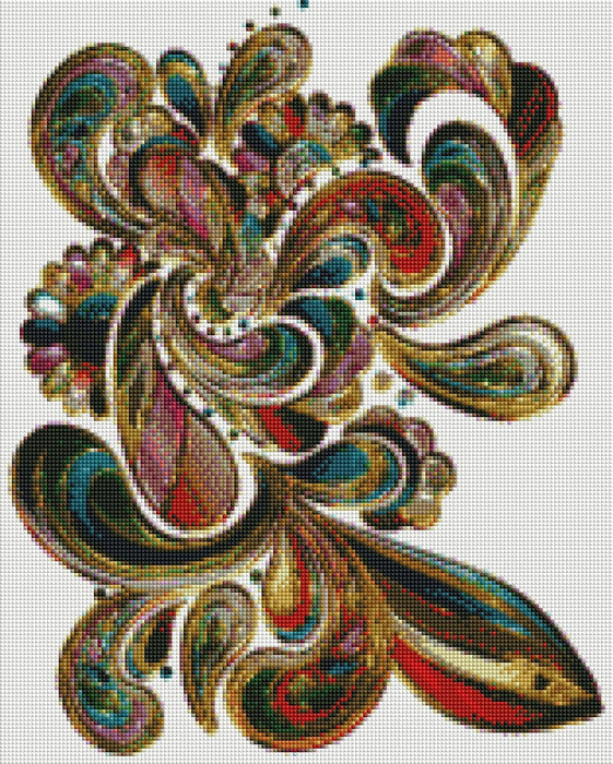 Color Swirls - Shimmer Stitch