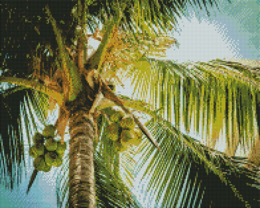 Green Palm Tree - Shimmer Stitch