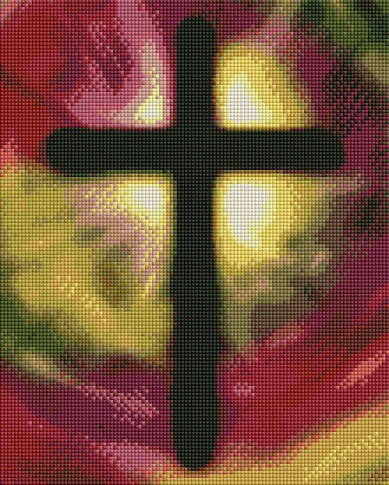 Colorful Cross - Shimmer Stitch