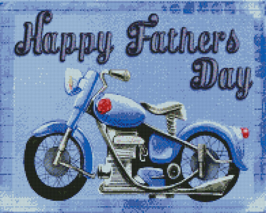 Happy Fathers Day - Shimmer Stitch