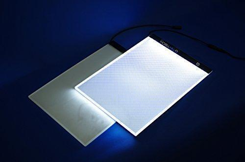 "Adjustable Stand for LED LightBox LARGE (A4) - 13.2""x 9.2"" - Choose Your Color! - Shimmer Stitch"