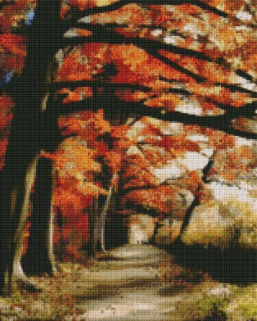 Autumn Path - Shimmer Stitch