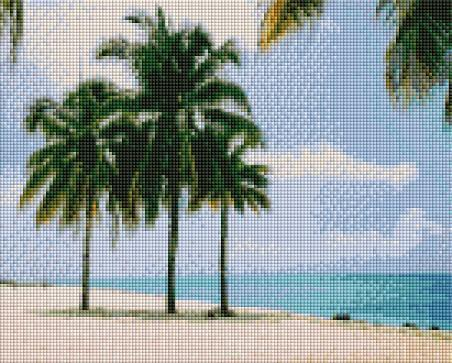 Beach Palms - Shimmer Stitch