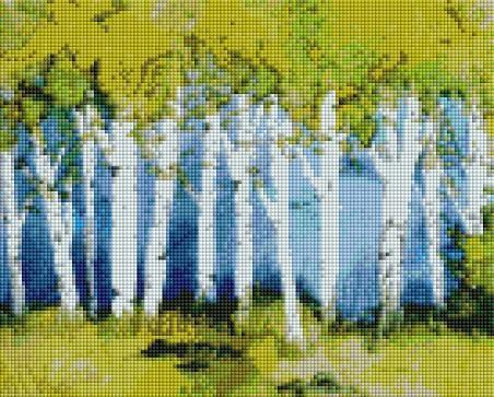 Birch Forest - Shimmer Stitch