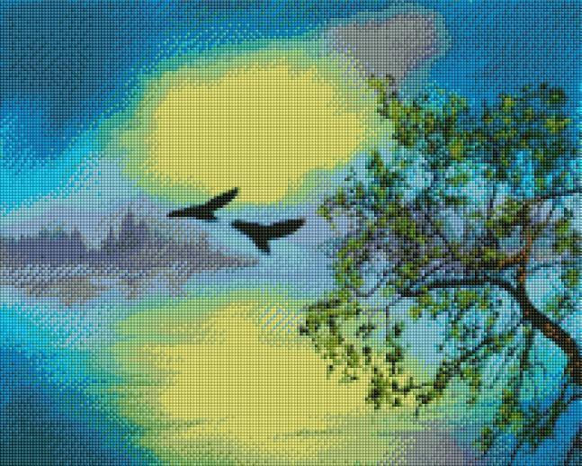 Birds in Flight - Shimmer Stitch