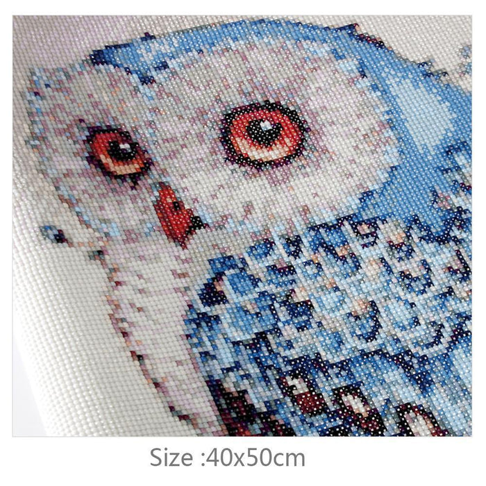 Blue Owl (SQUARE DIAMONDS!) - Shimmer Stitch
