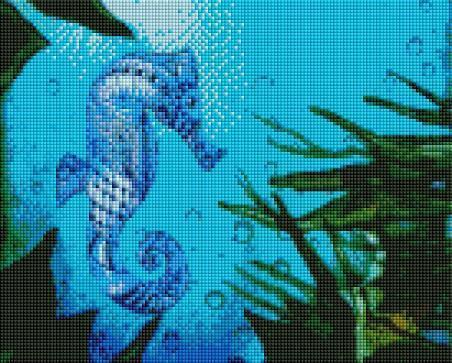 Blue Seahorse - Shimmer Stitch