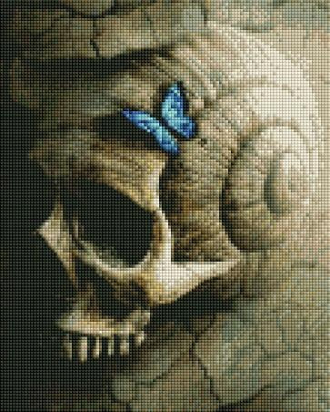 Brown Skull - Shimmer Stitch