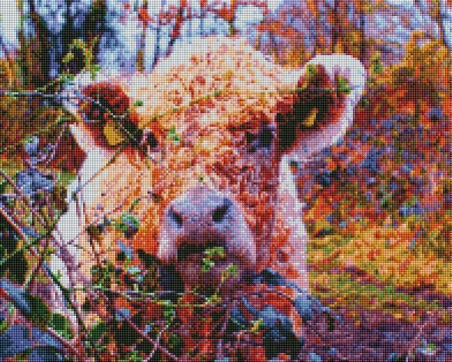 Colorful Cow - Shimmer Stitch