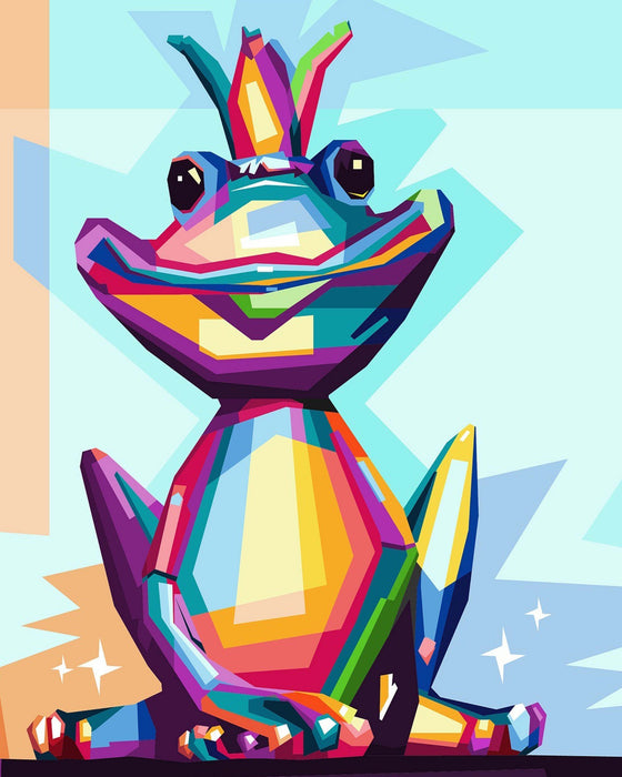 Colorful Frog - Shimmer Stitch