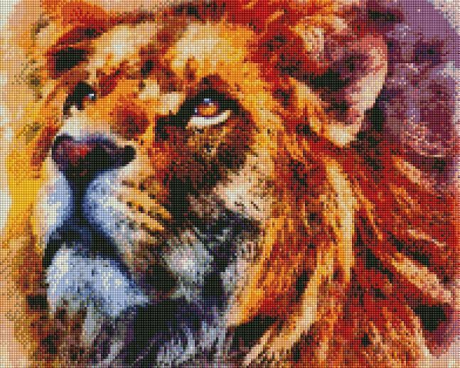 Colorful Lion - Shimmer Stitch