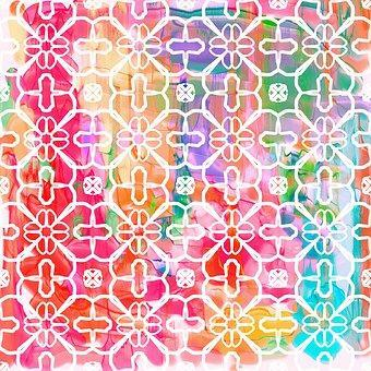 This is a photo of a watercolor art of a pattern.