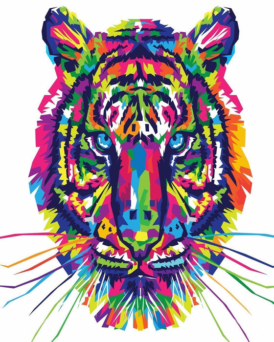 Colorful Tiger - Shimmer Stitch