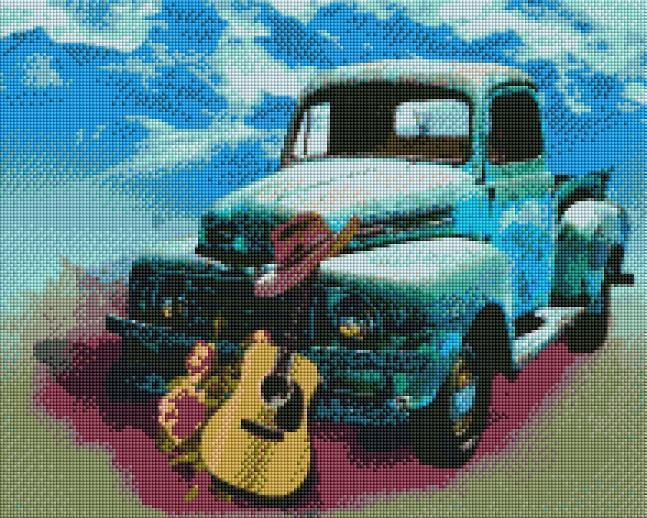 Country Truck - Shimmer Stitch
