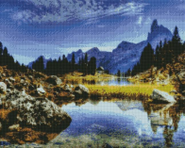 Crystal Mountain Stream - Shimmer Stitch