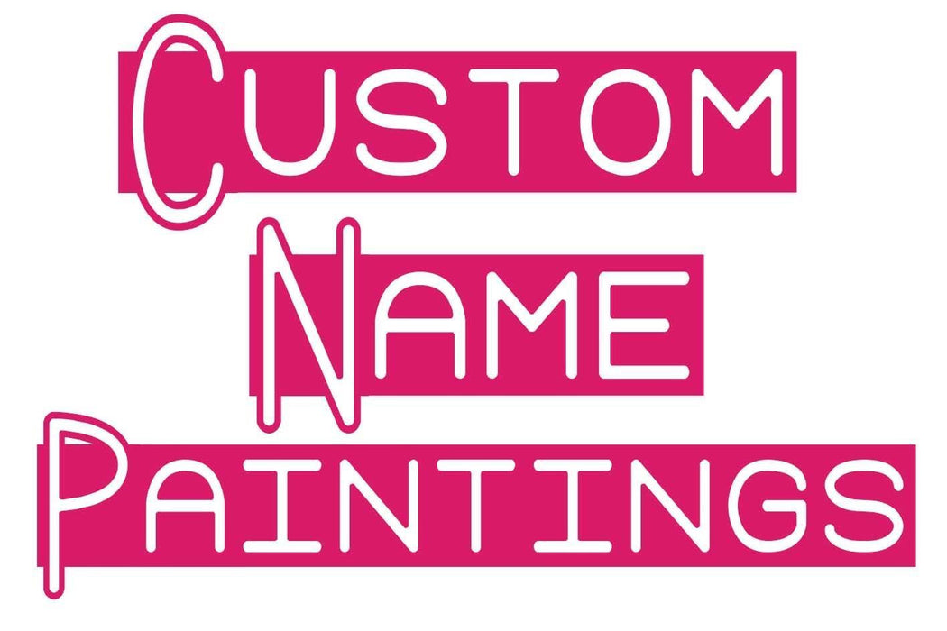 Custom NAME Diamond Painting - Shimmer Stitch