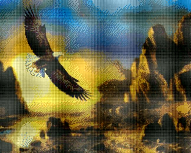 Eagle in Flight - Shimmer Stitch