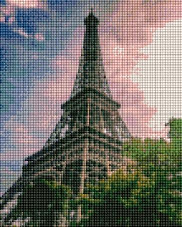 Eiffel Tower - Shimmer Stitch