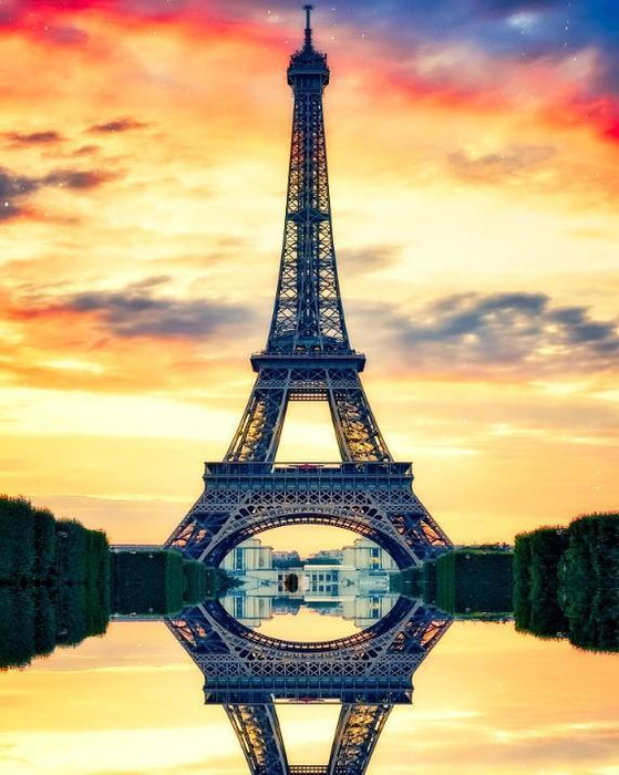 Eiffel Tower Reflection - Shimmer Stitch