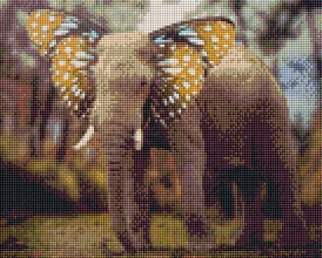 This is a photo of Elephant butterfly in a diamond canvass