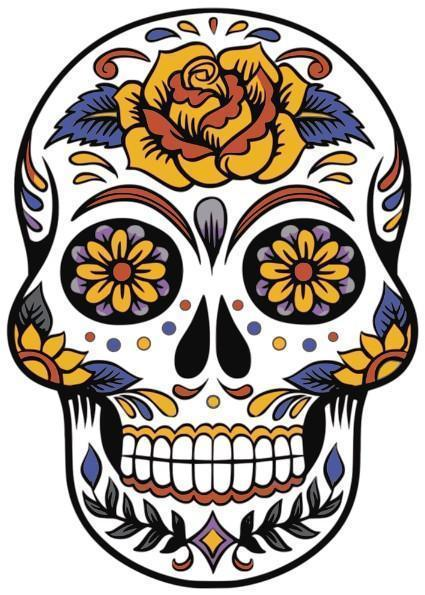 This is a photo of a Floral Sugar Skull