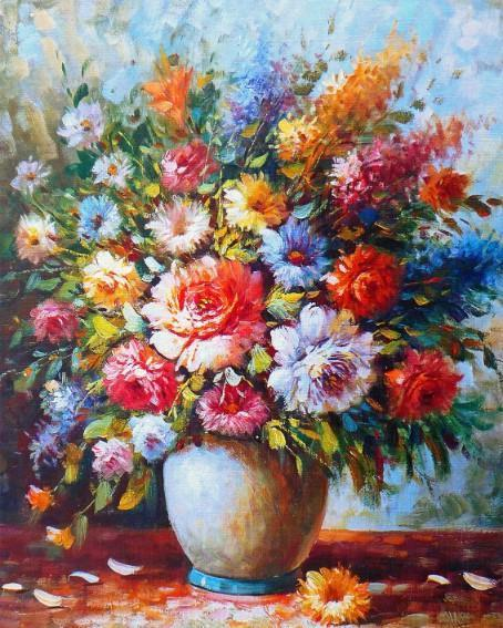 This is a photo of a Flower Vase full of flowers