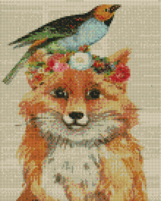 Fox & Bird - Shimmer Stitch