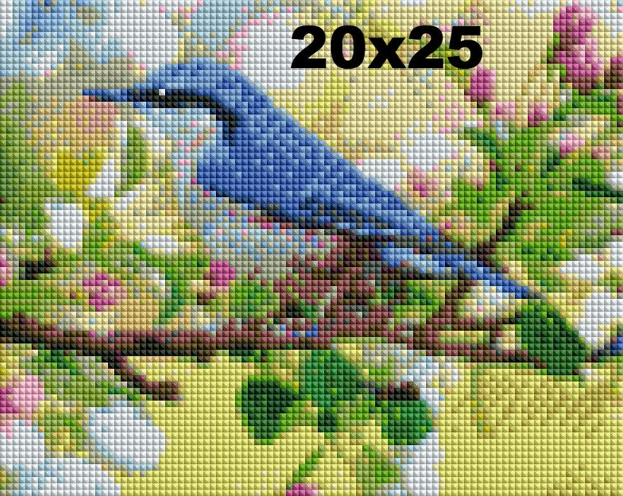 FREE Diamond Painting Kit: Blue Bird - Shimmer Stitch