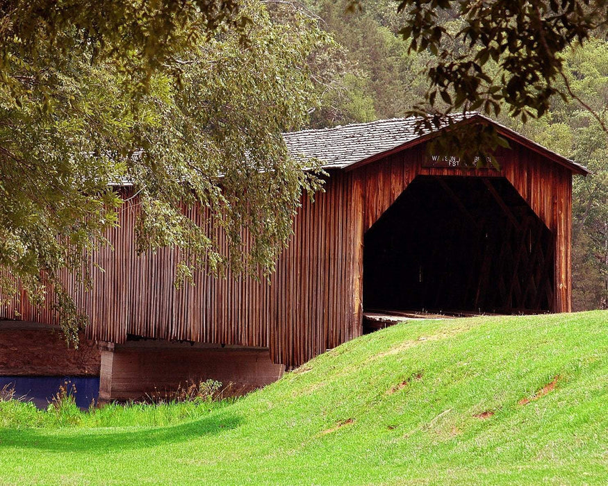 FREE Diamond Painting Kit: Covered Bridge - Shimmer Stitch