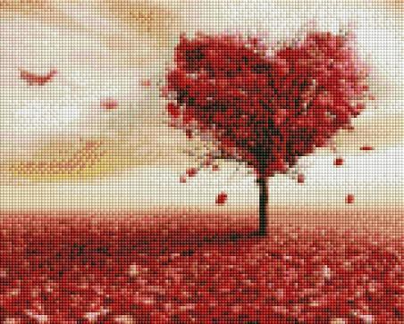 Heart Tree - Shimmer Stitch