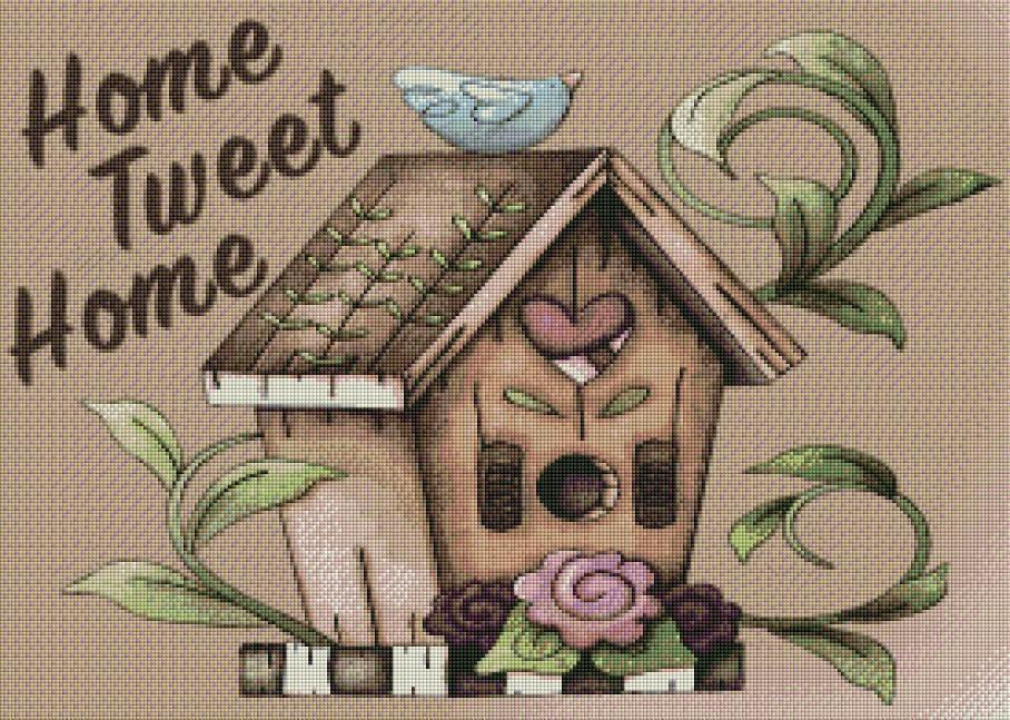 Home Tweet Home - Shimmer Stitch