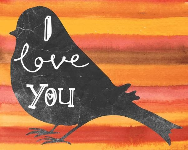 I Love You Bird - Shimmer Stitch