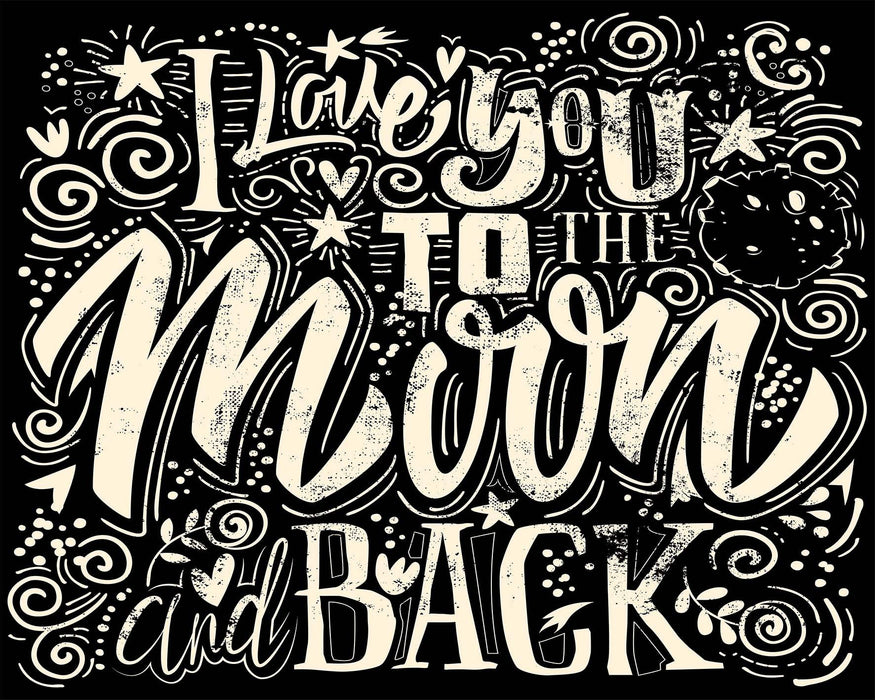 I Love You To The Moon & Back - Shimmer Stitch