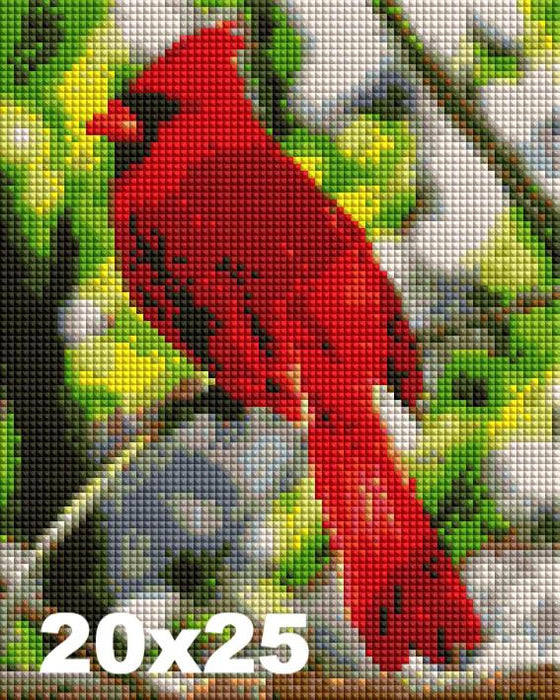 FREE Diamond Painting Kit: Red Cardinal - Shimmer Stitch