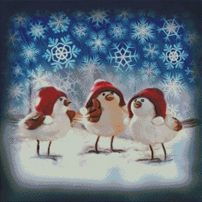 Christmas Birds - Shimmer Stitch