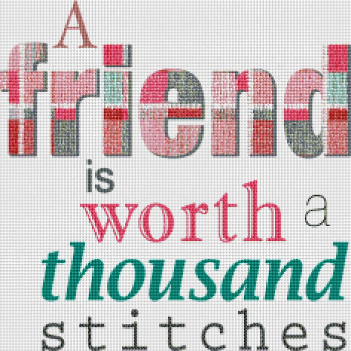Friend Worth a Thousand Stitches - Shimmer Stitch