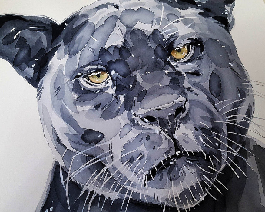 Watercolor Jaguar