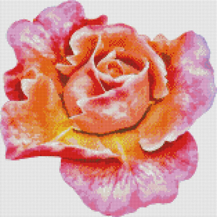 Colorful Rose - Shimmer Stitch