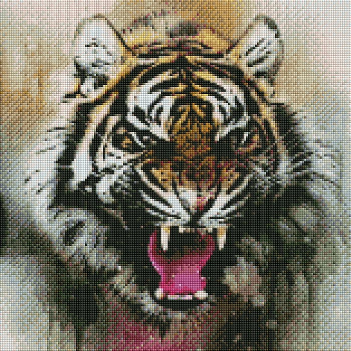 Angry Tiger - Shimmer Stitch