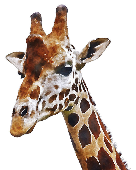This is a photo of a giraffe painting