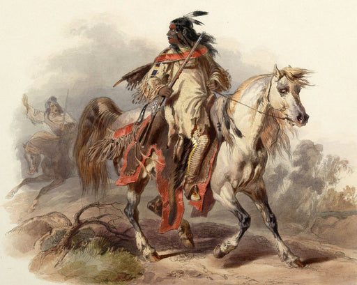 Native American on Horse Painting