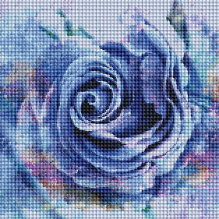 Blue Rose - Shimmer Stitch