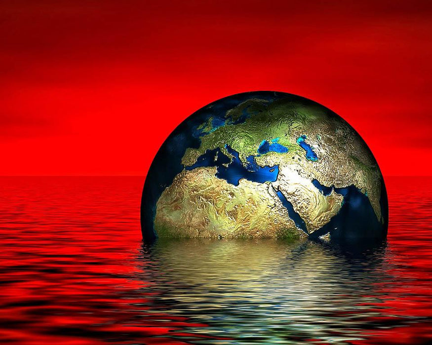 Earth in Red Waters