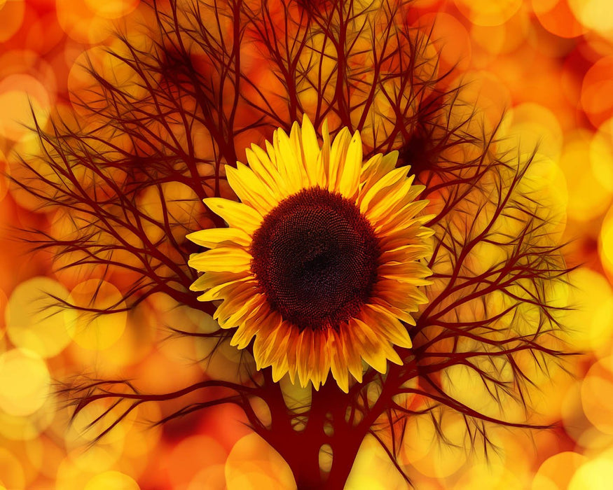 Sunflower Tree Art
